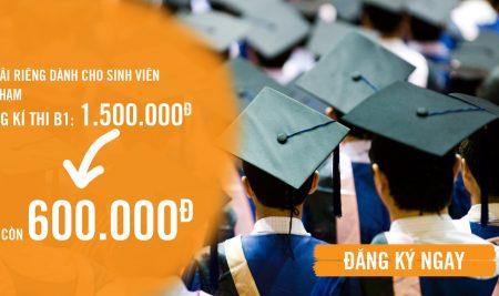 Thông báo giảm lệ phí đăng kí dự thi B1 cho sinh viên Đại học Sư phạm Tp.HCM
