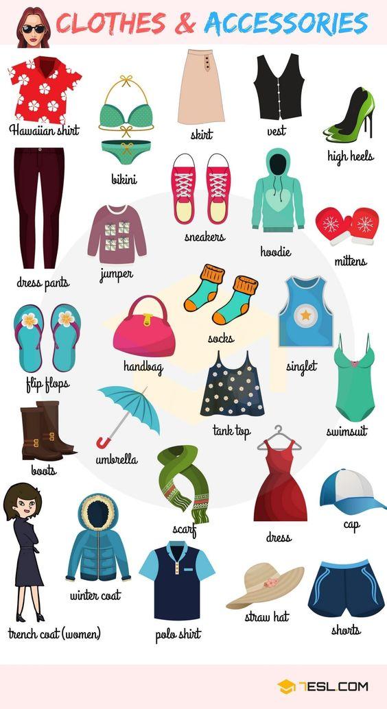 từ vựng về trang phục