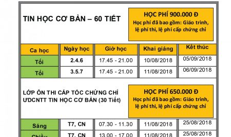 TKB TIN HỌC KHOA 19 (08/2018)